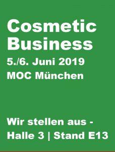 Fachmesse Cosmetic Business München 2019 Pharmaprodukte