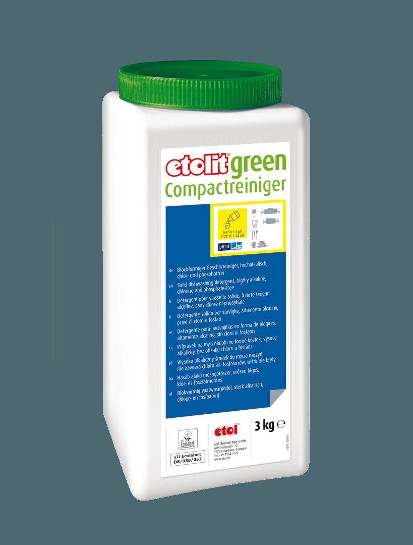 etolit green Compactreiniger, Spezialreiniger, gewerbliche Reinigungsmittel, nachhaltige Reinigungsmittel, EU-Ecolabel