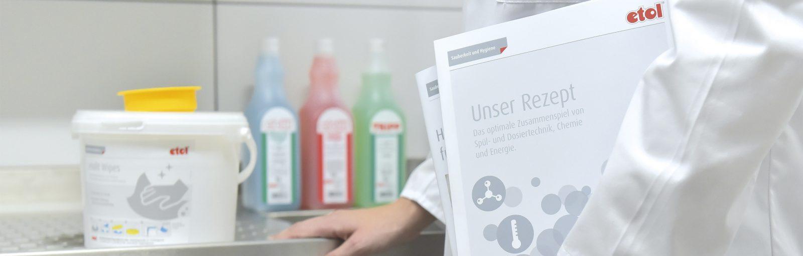 etol Hygiene Reinigungsmittel für die gewerbliche Küche und Spülmaschine, Hygienemanagement, Hygieneberatung