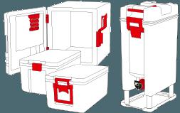 Kunststofftechnik Speisetransportsystem Speiseverteilboxen